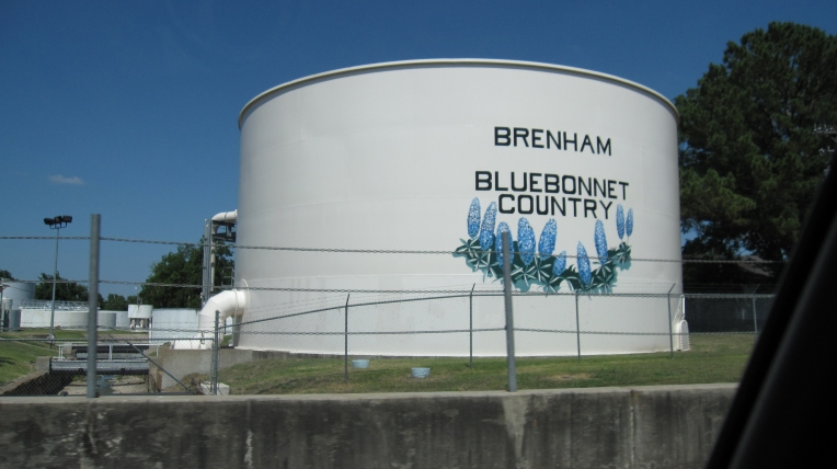 Brenham water tower