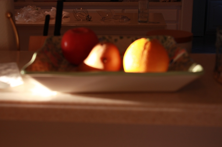 fruit in shadow