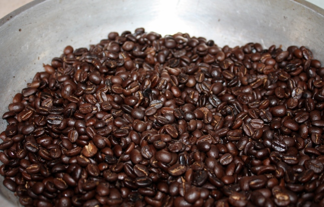 coffee beans - dark