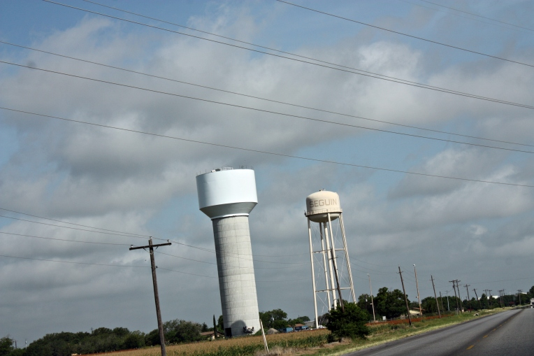 the old and the new water towers